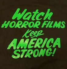 Watch Horror Films Keep America Strong! Creature Features monster movie t shirt
