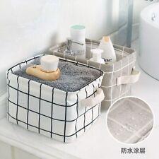 Storage Basket Waterproof Organizer Cotton Linen Sundries Storage Box Container