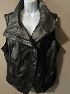Harley Davidson Womens 2XL Genuine Sheepskin Leather Vest