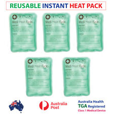 5 X NEW SMALL REUSABLE INSTANT HEAT PACKS - HEAT PACK- GREAT FOR HAND WARMER