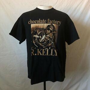 2003 R. Kelly Chocolate Factory Promo T-Shirt Large Black R&B Rap Tee