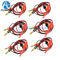10Pair Small Banana Plug To Test Hook Clip Probe Lead Cable For Multimeter