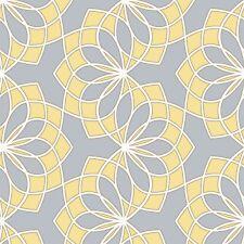 Scala spiro gris et jaune abstract floral papier peint 304015