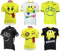 Funny Smiling Face Cycling Jersey Tops Breathable Cycling Clothing Bike Jersey