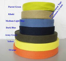 "25mm 1"" Cotton webbing Tape soft Belt Fabric Strap Bag sewing dress craft-makhan"