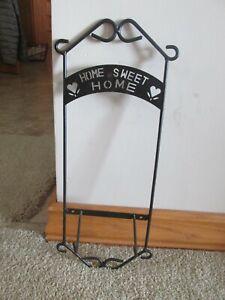 """Home Sweet Home"" Black Plate Rack    Free Shipping"