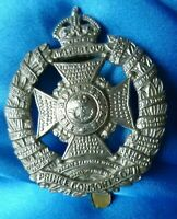 Rifle Brigade Prince Consorts Own Cap Badge KC WM Slider ANTIQUE Org