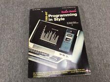 TRS-80 Programming in Style   Dwyer Critchfield