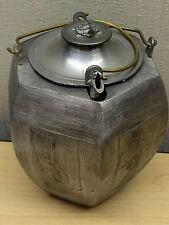 Vintage Chinese Silver Pewter Teapot Dragon Phoenix Longevity Turtel Finial Lid