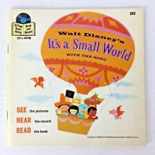 Walt Disney - It's A Small World - See Hear Read -Vintage Book & Record -