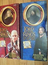 "Toy Biz Aragorn & Legolas 12"" Dolls Figures The Lord of the Rings Lotr"