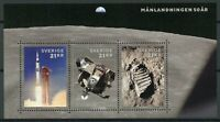 Sweden 2019 MNH Apollo 11 Moon Landing 50th Anniv 3v M/S Space Stamps