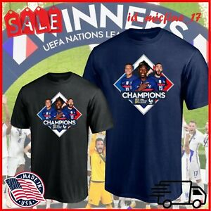 HOT!!! France Wins UEFA Nations League, French Champions Essential T-shirt S-3XL