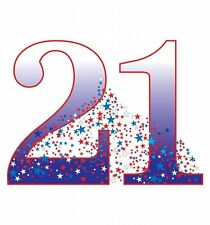 Number 21 Birthday Party Lifesize CARDBOARD CUTOUT standee C21