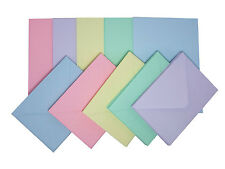Card Blanks with Envelopes C6 Assorted Pastel (Pack of 50)