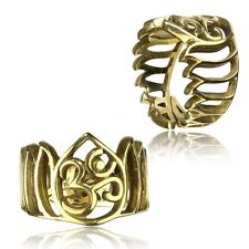 Polished Brass Rings Adjustable Yoga Ring Tribal Om Symbol Brass Finger Ring