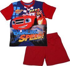 Boys Blaze And The Monster Machines Short Pyjamas Shorty Shortie PJs Age 3-8 Y