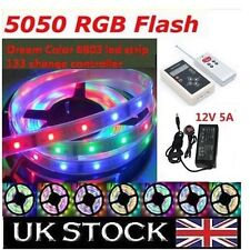 Dream Color 6803 IC Chip 5050 RGB LED Strip 133 Effects RF Controller UK Power