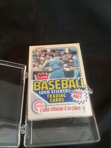 1983 Fleer Cello Pack, Sealed, Unopened, Ryne Sandberg On Top, Ozzie Smith On...