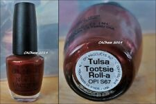 Opi Nail Polish - Discontinued Color Tulsa Tootsie Roll Lacquer New Bottle
