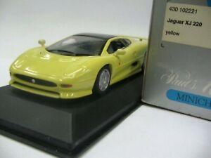 WOW EXTREMELY RARE Jaguar XJ220 Twin Turbo 542HP 1991 Yellow 1:43 Minichamps-XJS