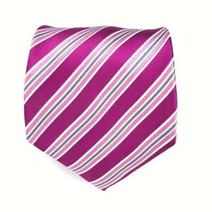 Donald J. Trump Signature Collection Necktie Silk Handmade Pink Striped Necktie