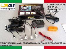 KIT 4 SENSORI DI PARCHEGGIO AUTO ARGENTO DISPLAY PEUGEOT 206 207 4008 308 2008