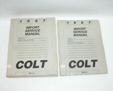 1987 Dodge Colt Factory Service Manual Set GOOD CONDITION #C4