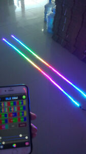 Just 2PCS 6.5FT Light Strips Without Controller Wire LED Dream Color Chasing
