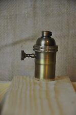 Antique Brass Turn Knob Light Bulb Socket 3 Way