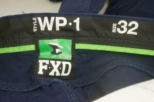 FXD Work Pants Style WP-1 Size 32 Unworn Navy Blue Workwear Long Trousers PR453