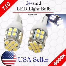 2x 6000K Xenon White LED T10 921 912 AOT 24SMD Backup Reverse Light Bulb