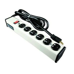 Legrand Wiremold 6-Outlet 20 Amp Compact Power Strip, 6 ft. Cord