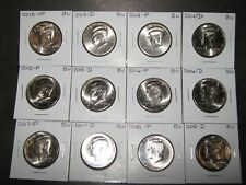 2013 2014 2015 2016 2017 2018  P & D KENNEDYS 12 Coins from Mint Rls