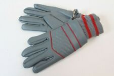 Vintage Gloves Gloves Unworn Gray Red Polychlorid Size 6