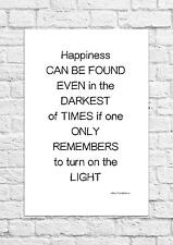 Albus Dumbledore - Happiness Can Be Found.. - Art Print - Harry Potter - A4 Size