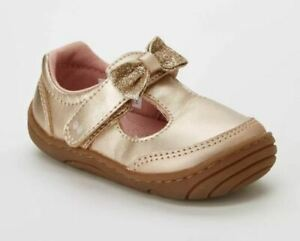 Baby Girls' 3 Surprize by Stride Rite Cecilia Mary Jane Shoes Rose Gold Bow New