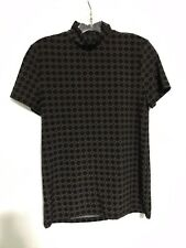 Anne Klein Shirt Stretch Black S Small NWT