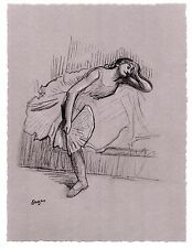"Edgar Degas ""Resting Ballerina"" Charcoal Drawing"