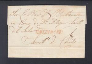 Chile Letter 1824 Valparaiso to Santiago