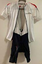 Louis Garneau Women's WHITE Course Jersey and BLACK Mondo Evo Bib Shorts Small