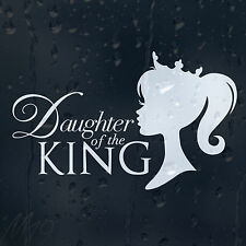 Princess Daughter Of The King Car Decal Vinyl Sticker For Window Bumper Panel