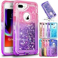 For iPhone 6 7 8 Plus Glitter Liquid Protective Shockproof Defender Case Cover