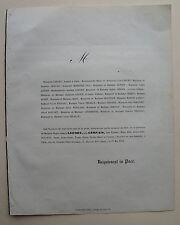 LEFORT NEE GERVAIS, FAIRE PART ORIGINAL DECES, 23 MAI 1851