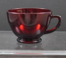 "Vintage Anchor Hocking Dark Red Depression Glass Punch Or Snack Cup 2 3/8"" G12"