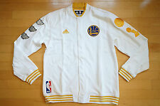 Golden State Warriors Adidas Authentic Banner Championship Jacket 2015 Size 4XL
