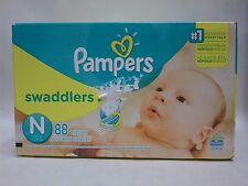 Pampers Diapers Swaddlers Size N With Wetness Indicator Super 88 Count Brand New