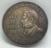 1973-Mo Mexico Silver Medal San Luis Potosi City Hall Juarez Mexican - BC935