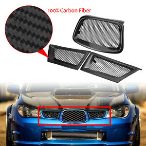 Carbon Fiber Front Upper Grill Grille For Subaru Impreza 9th WRX STI 2006-2007