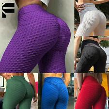 Women Yoga Pants Anti-Cellulite Push Up Ruched High Waist Tik Tok Leggings Gym